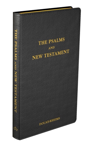 Psalms and New Testament - Flexible cover (Black Leather)