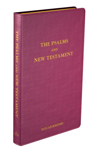 Psalms and New Testament - Flexible cover (Burgundy Leather)
