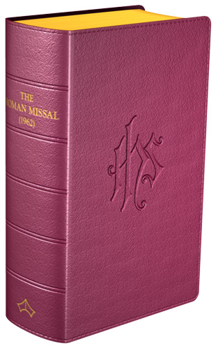 Daily Missal 1962 - Flexible cover (Burgundy Leather)