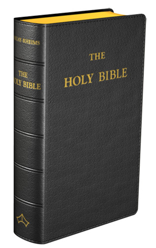 Douay-Rheims Bible (Pocket size) - Flexible cover (Black Leather)